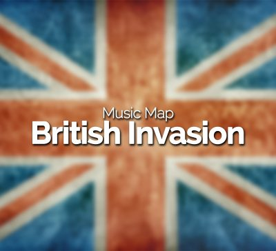 British Invasion Music Map